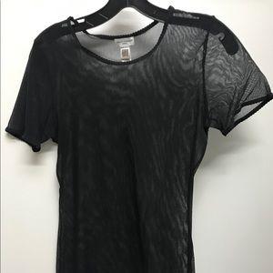 Dolce & Gabbana Black Mesh Top T Shirt SZ M
